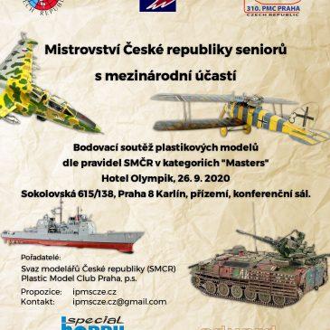 Mistrovství ČR seniorů v plastikovém modelářství 2020