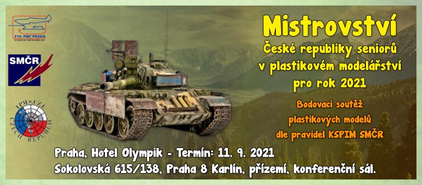 Mistrovství České republiky seniorů  v plastikovém modelářství  pro rok 2021